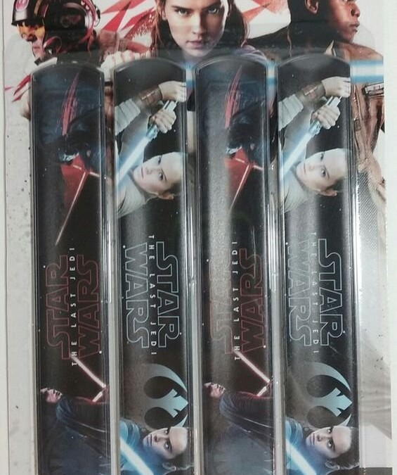 New Last Jedi Slap Rulers 4-Pack available on Amazon.com
