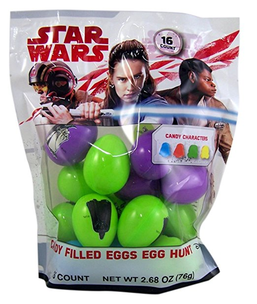 New Last Jedi Candy Filled Easter Eggs Pack available on Amazon.com