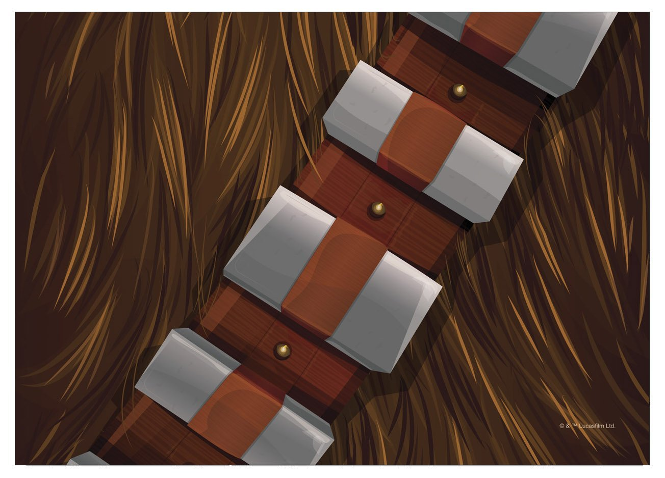 TLJ Chewbacca with Bandolier Laptop Wrap 2