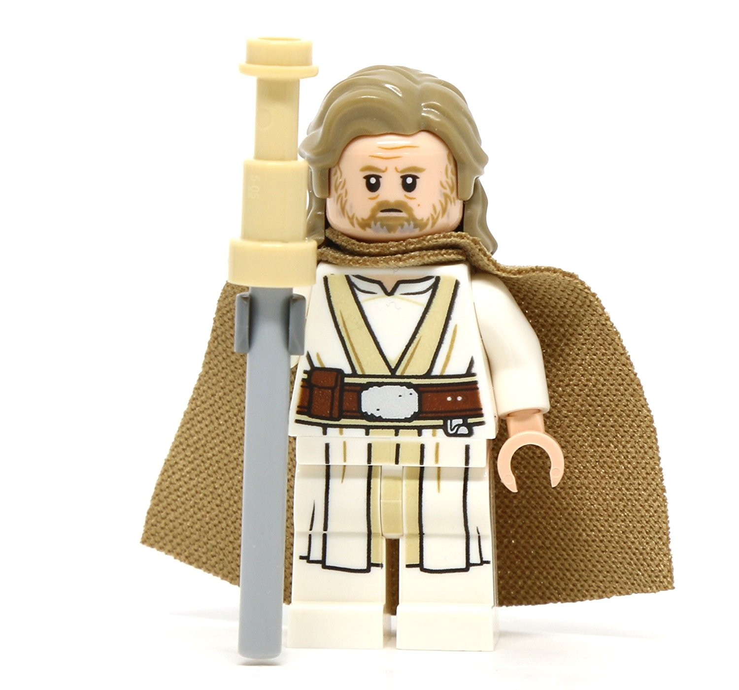 TLJ Old Luke Skywalker Lego Mini Figure