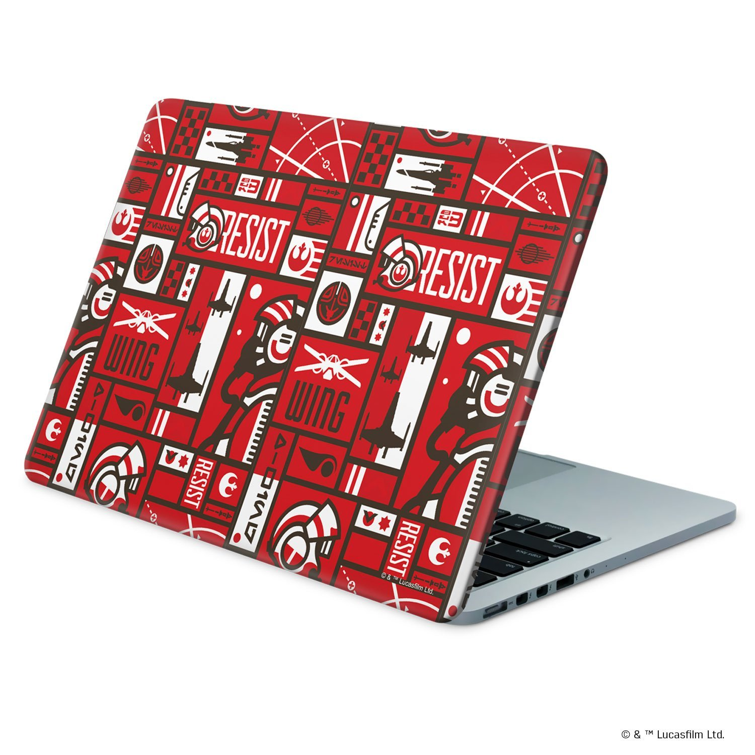 TLJ Resistance Pattern Laptop Wrap 3