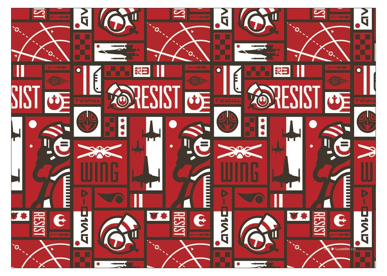 TLJ Resistance Pattern Laptop Wrap 2