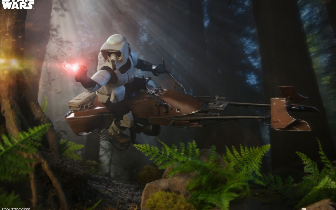 New Return of the Jedi Imperial Scout Trooper 1/6th Scale Figure available for pre-order!