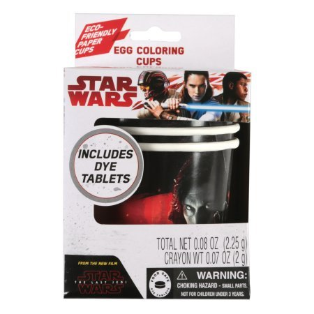 New Last Jedi Easter Coloring Cups Set available on Amazon.com