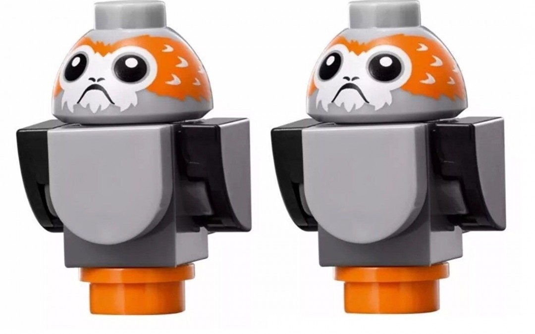 New Last Jedi Porg Lego Mini Figure 2-Pack available on Amazon.com