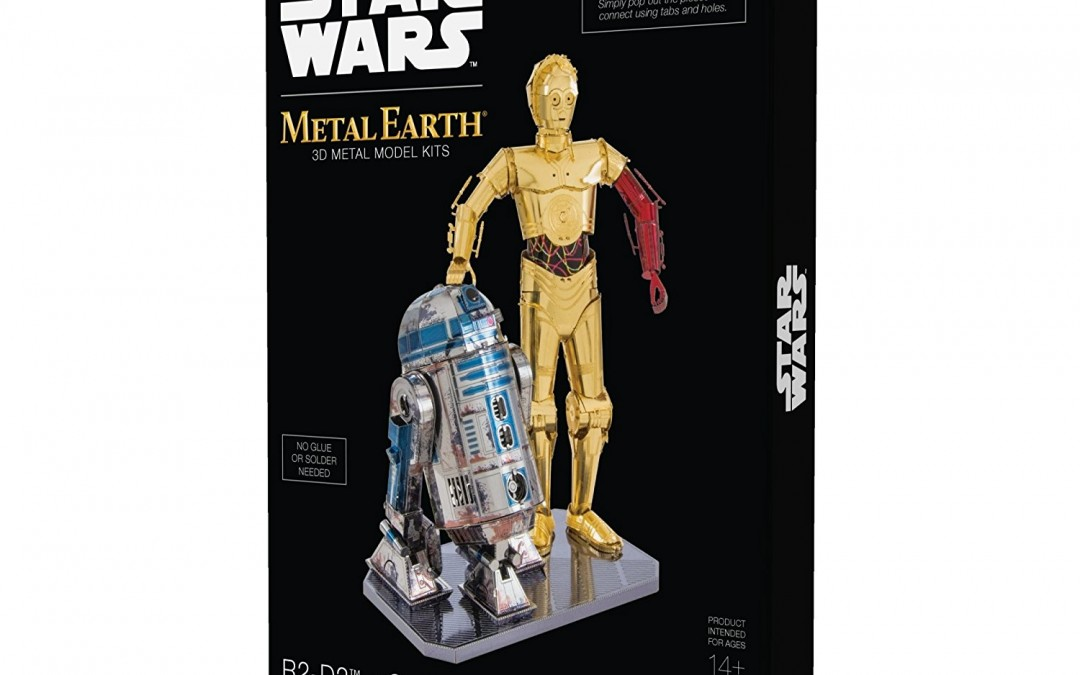 New Force Awakens R2-D2 and C-3PO 3D Metal Model Kit Box Set available on Amazon.com
