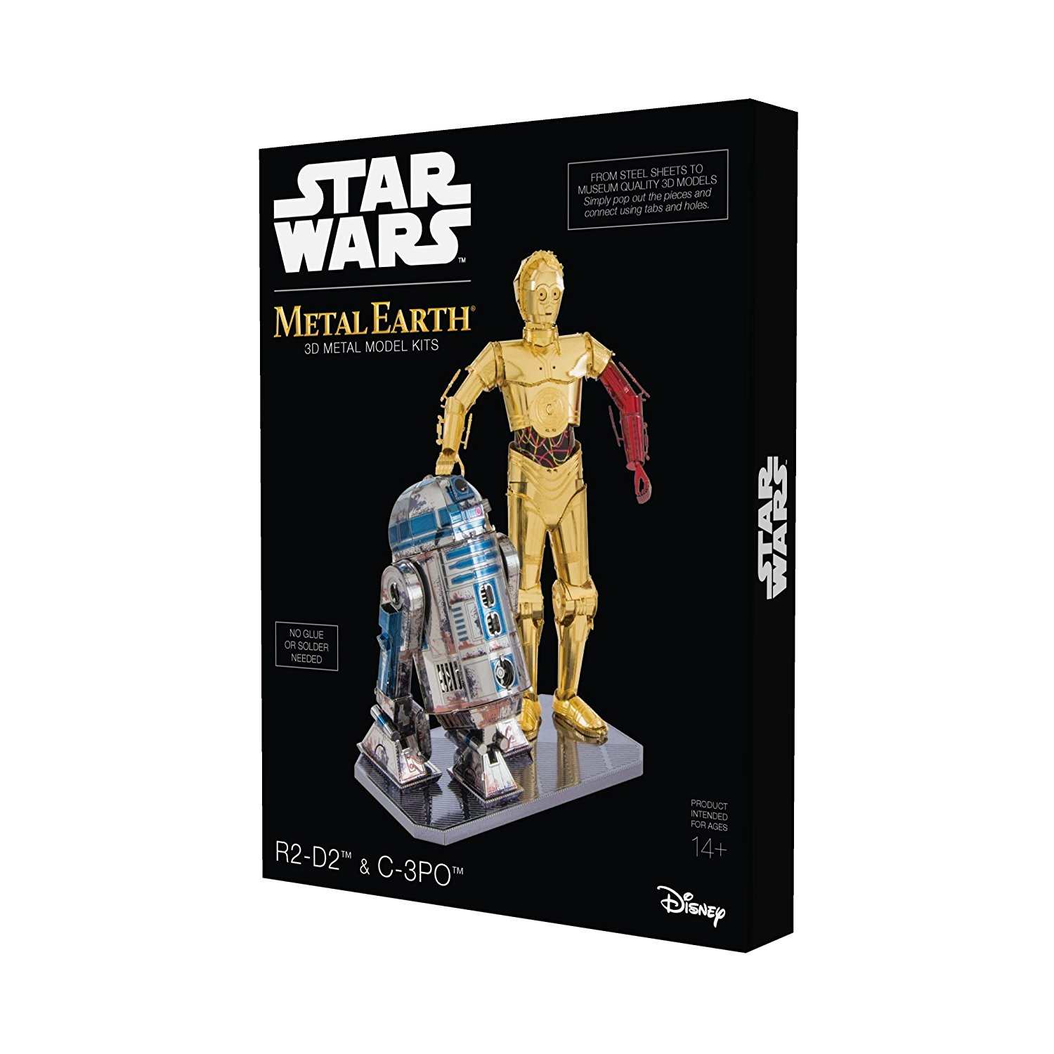FA R2-D2 and C-3PO 3D Metal Model Kit Box Set