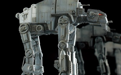 New Last Jedi First Order AT-M6 Bandai Vehicle Model Kit available on Amazon.com