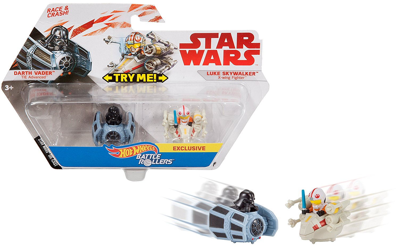 TLJ HW Darth Vader and Luke Skywalker Battle Rollers Vehicle 2-Pack 3