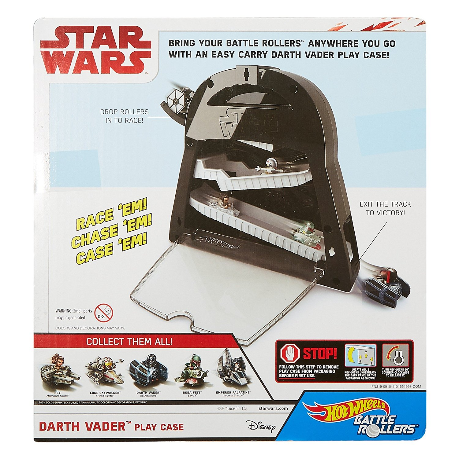 TLJ HW Battle Rollers Darth Vader Play Case Set 2