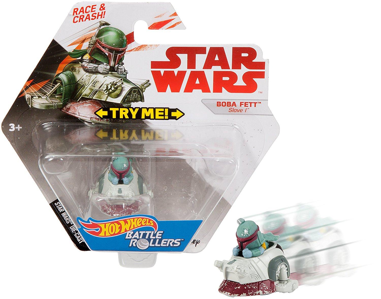 TLJ HW Boba Fett Slave I Battle Roller Vehicle Toy 3