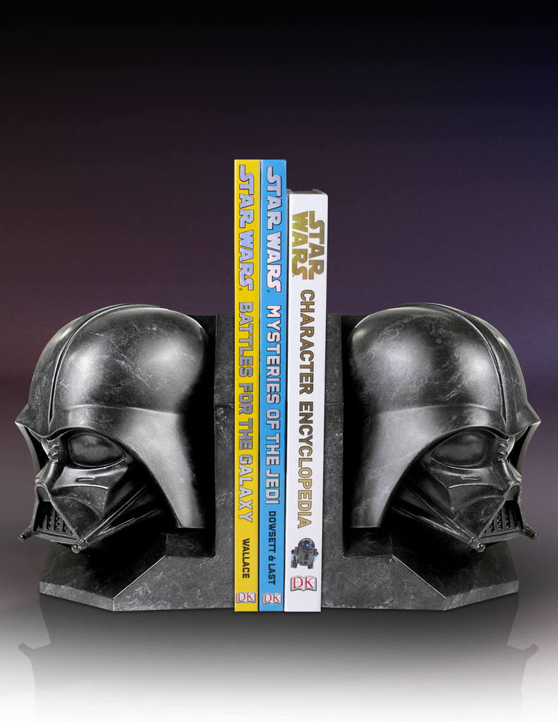 SW Darth Vader and Imperial Stormtrooper Marble Bookend Bundle 3