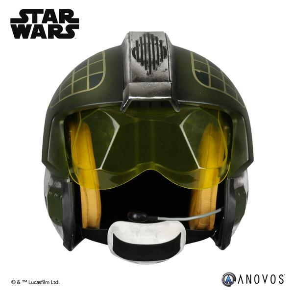 New A New Hope Gold Leader Pilot Helmet Accessory available for per-order on Anovos.com