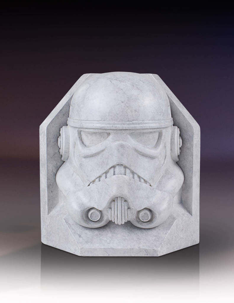 SW Imperial Stormtrooper Marble Bookend 2