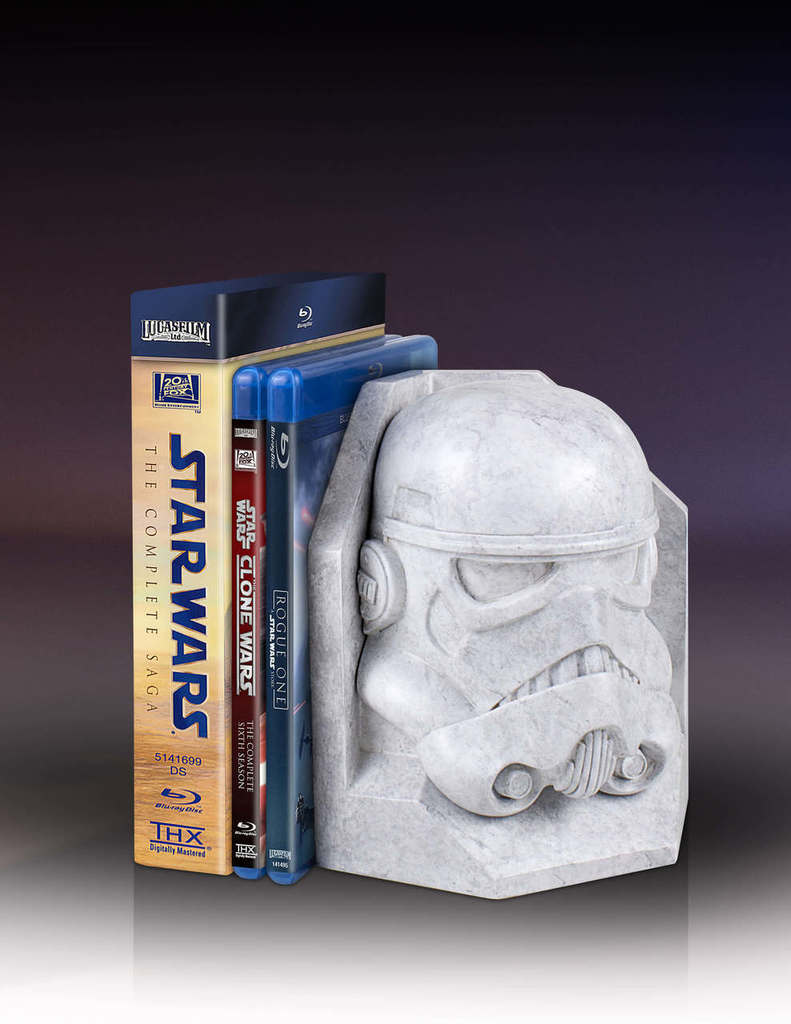 SW Imperial Stormtrooper Marble Bookend 1