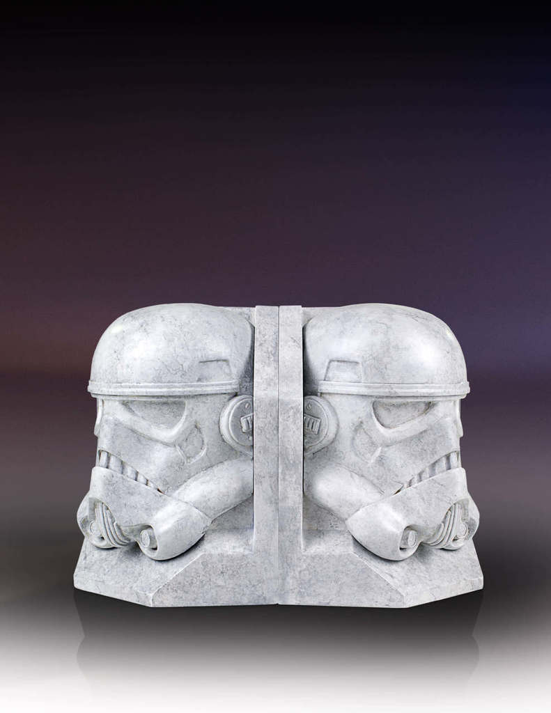 SW Darth Vader and Imperial Stormtrooper Marble Bookend Bundle 4
