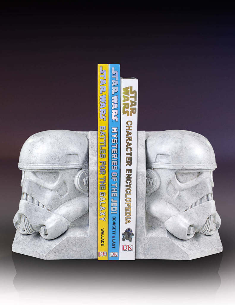 SW Darth Vader and Imperial Stormtrooper Marble Bookend Bundle 2