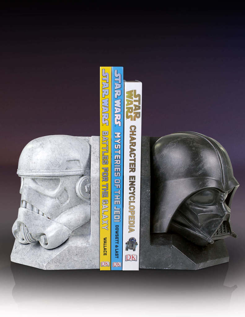 SW Darth Vader and Imperial Stormtrooper Marble Bookend Bundle 1