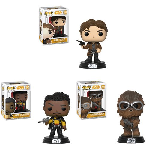 New Solo: A Star Wars Story Funko Pop! Bobble Head Toy Set (1) available on Amazon.com