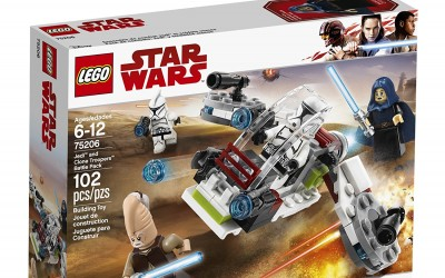 New Last Jedi (Clone Wars) Jedi and Clone Troopers Lego Battle Pack available on Amazon.com