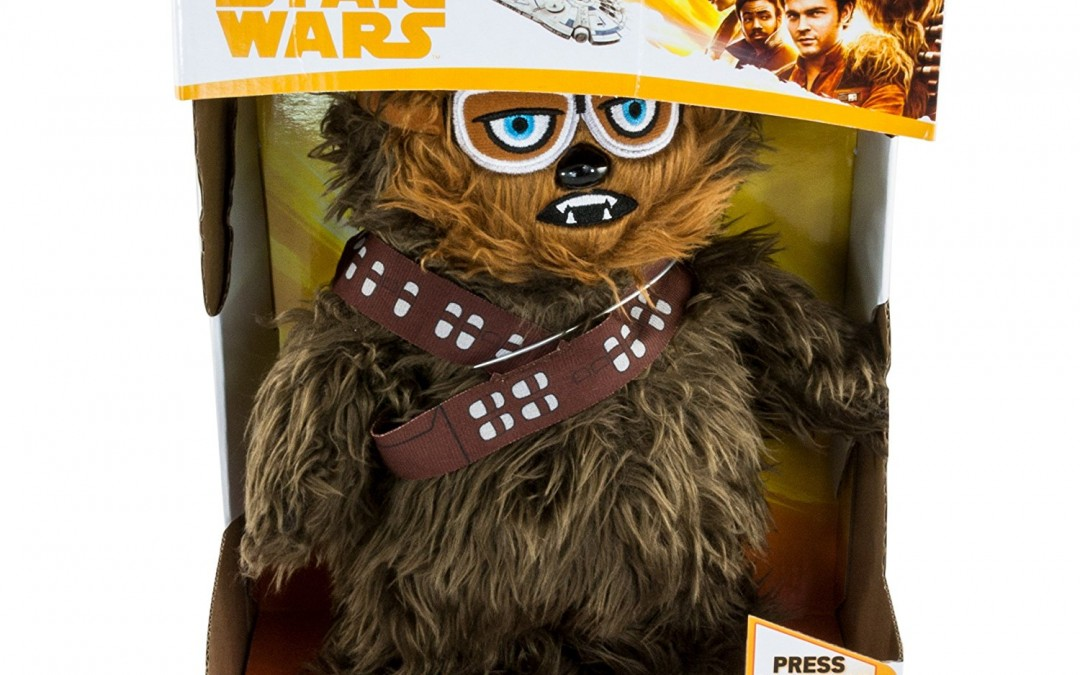 New Solo Movie Walk N' Roar Chewbacca Plush Toy available on Amazon.com
