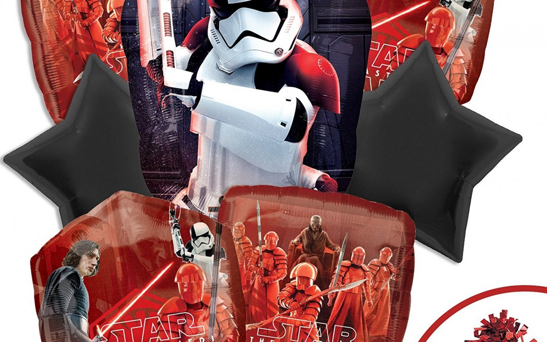 New Last Jedi First Order Deluxe Party Balloon Kit available on Amazon.com