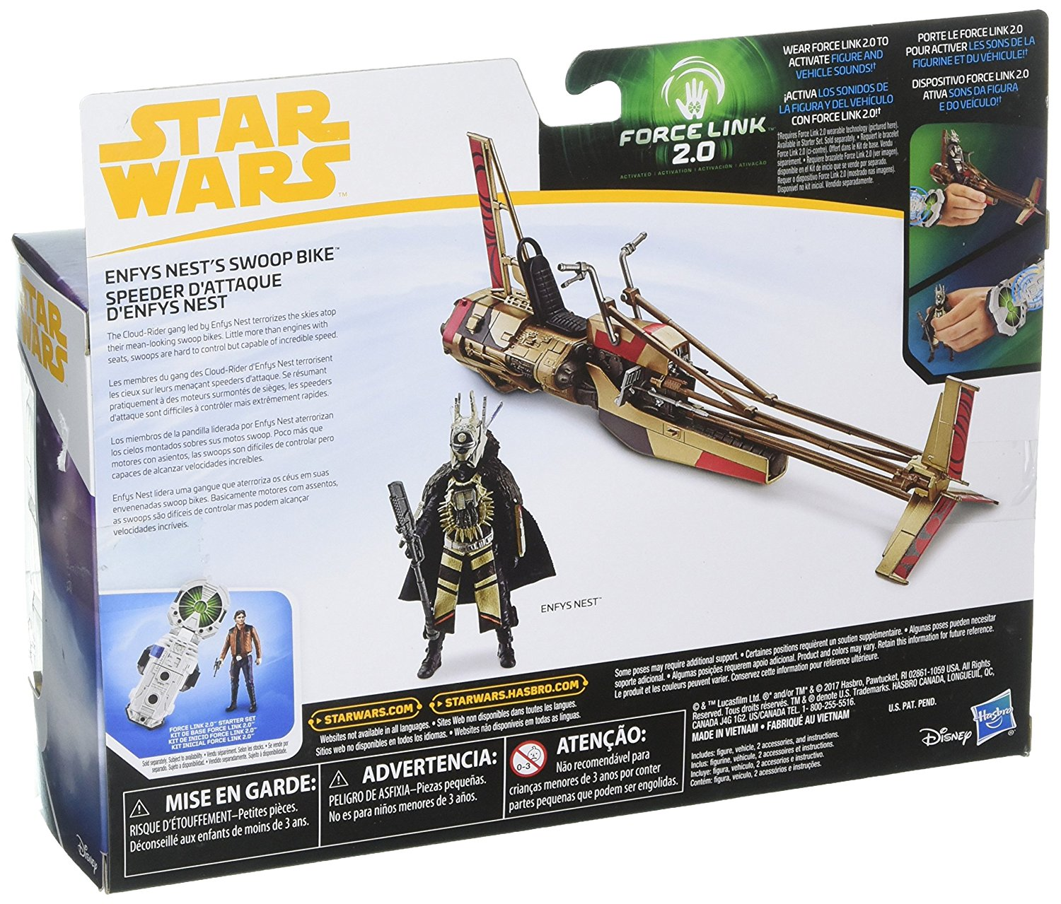 Solo: ASWS Force Link 2.0 Enfys Nest's Swoop Bike Toy 2