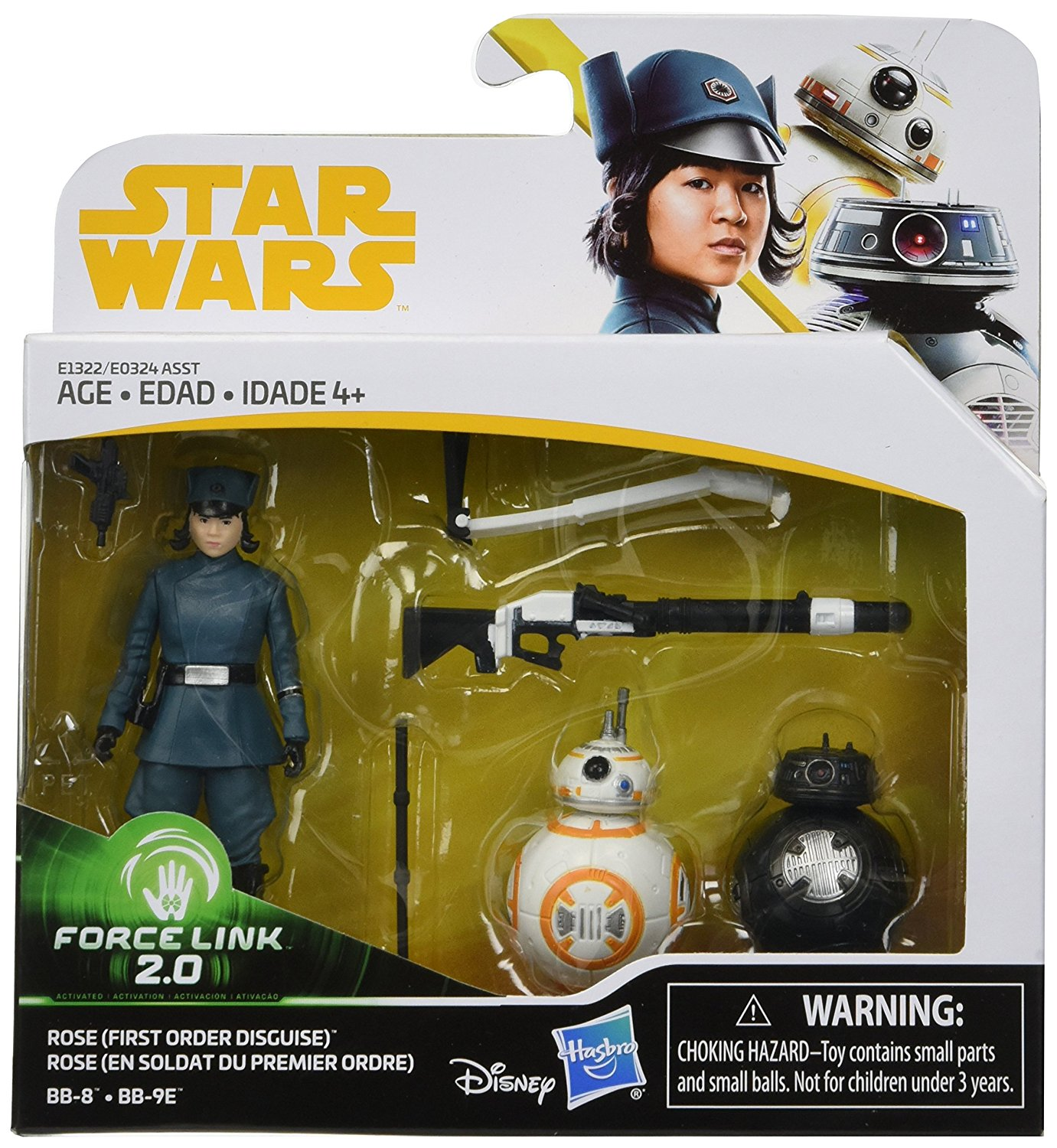 Solo: ASWS (TLJ) Rose (First Order Disguise), BB-8, and BB-9E Figure 3-Pack 1