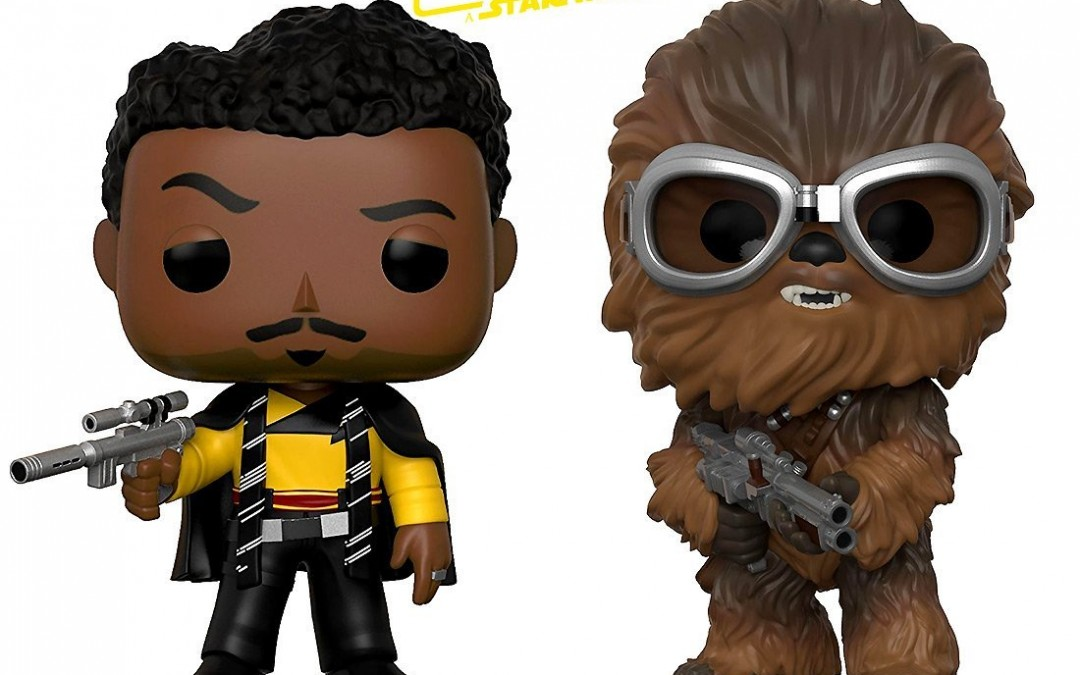 New Solo Movie Chewbacca and Lando Calrissian Funko Pop! Bobble Head Toy Bundle available on Amazon.com