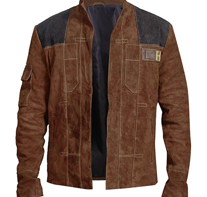 New Solo Movie Han Solo Space Warrior Leather Jacket available on Amazon.com