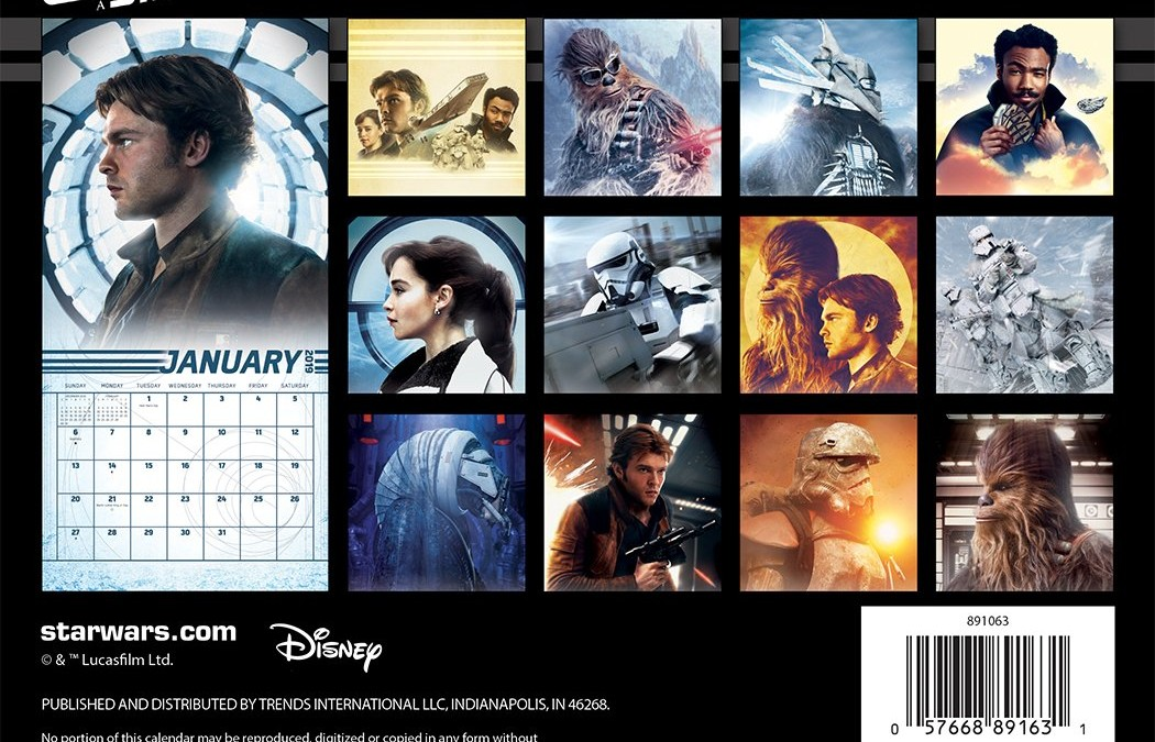 New Solo Movie Mini Calendar available for pre-order on Amazon.com