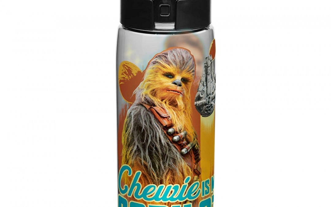 New Solo Movie Chewbacca Plastic Water Bottle available on Amazon.com