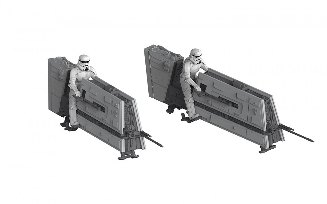 New Solo Movie Imperial Patrol Speeder Build & Play Model Kit 2-Pack available on Amazon.com