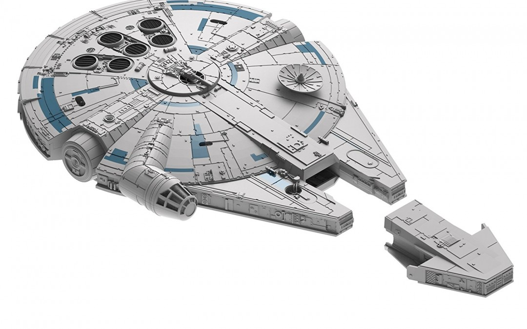 New Solo Movie Millennium Flacon Build & Play Model Kit available on Amazon.com