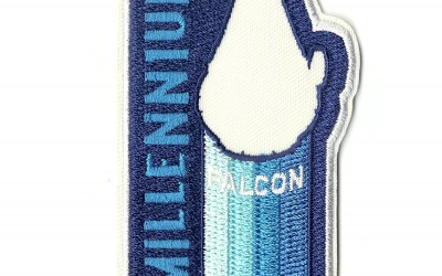 New Solo Movie Millennium Falcon Retro Embroidered Iron-On Patch available on Amazon.com