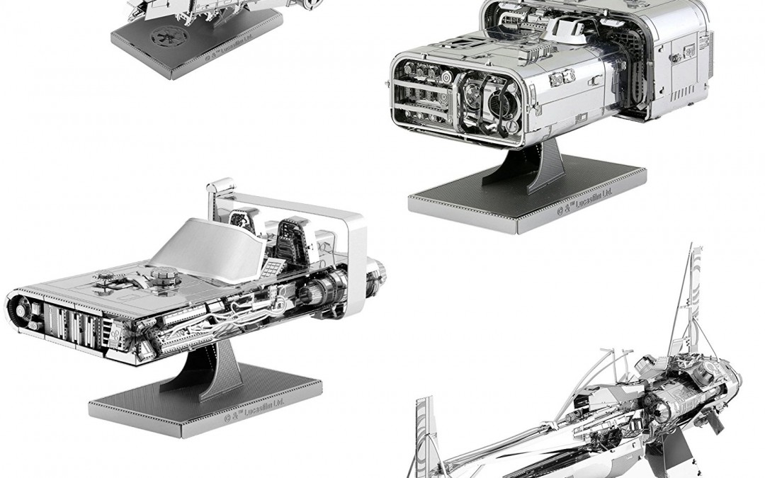 New Solo Movie 3D Metal Model Kit 4-Pack available on Amazon.com