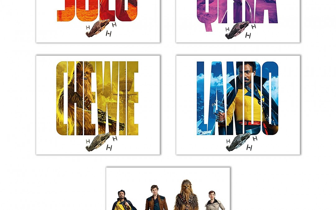 New Solo Movie Poster Prints 5-Pack available on Amazon.com