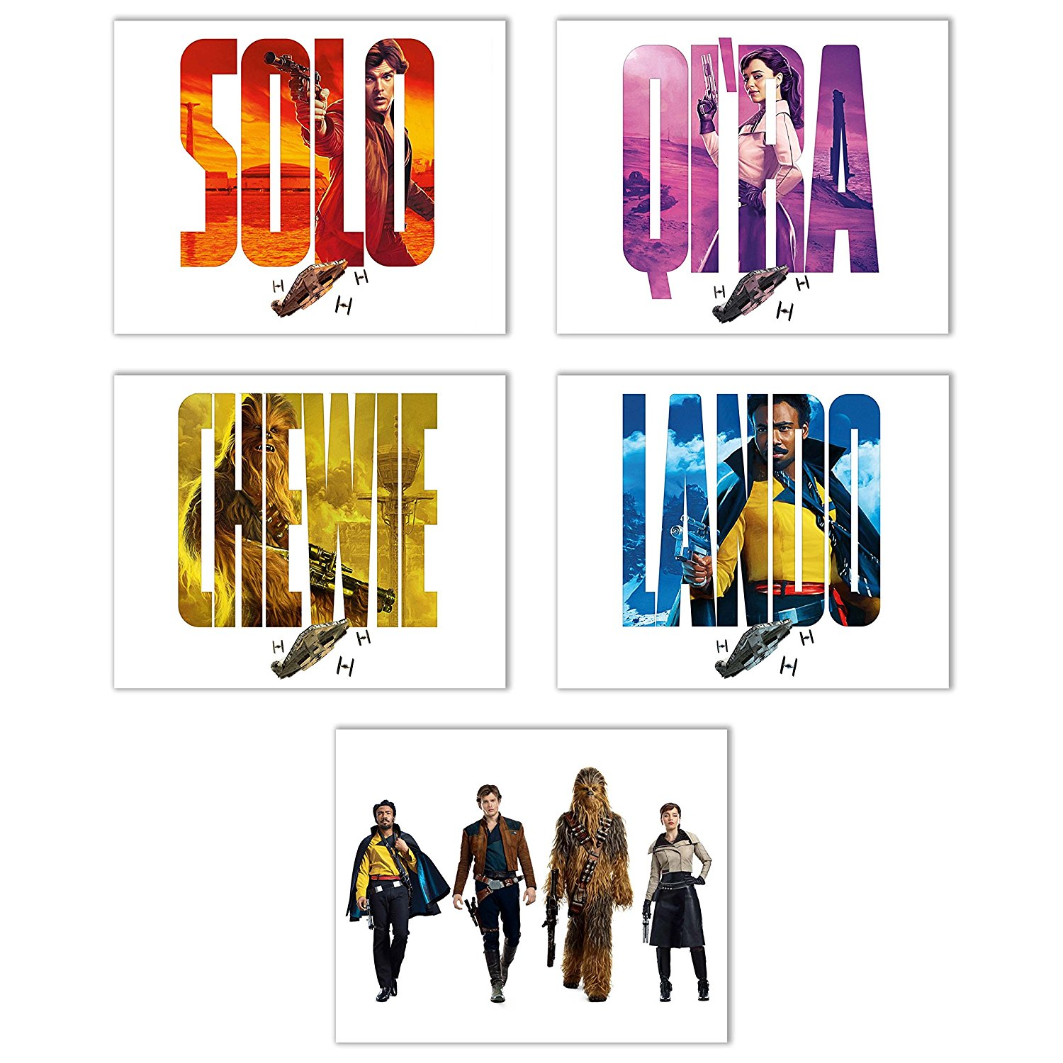 Solo: ASWS Character Poster Prints 5-Pack