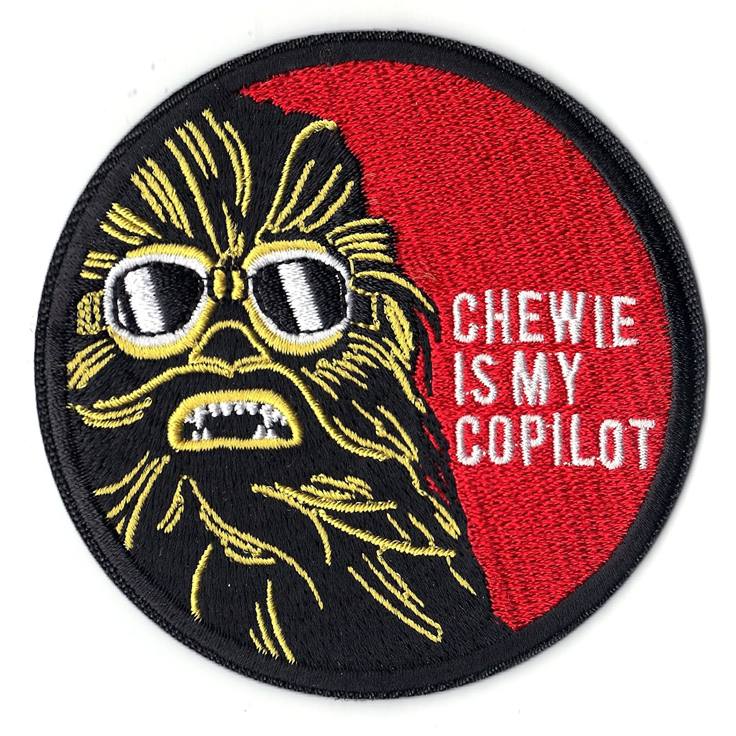 Solo: ASWS Chewie Is My Copilot Embroidered Iron-On Patch 2
