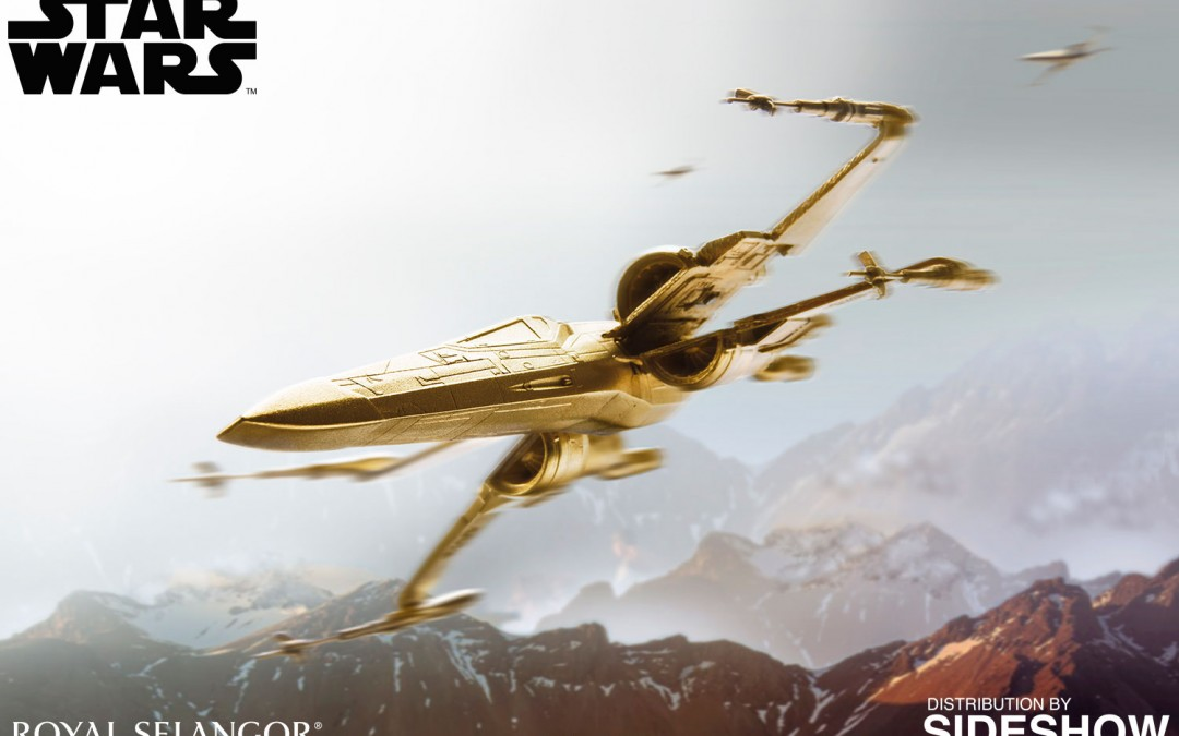 New Star Wars Gilt X-Wing Fighter now available for pre-order!
