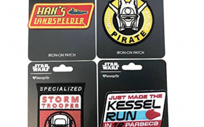 New Solo Movie Embroidered Iron-On Patches 4-Pack available on Amazon.com