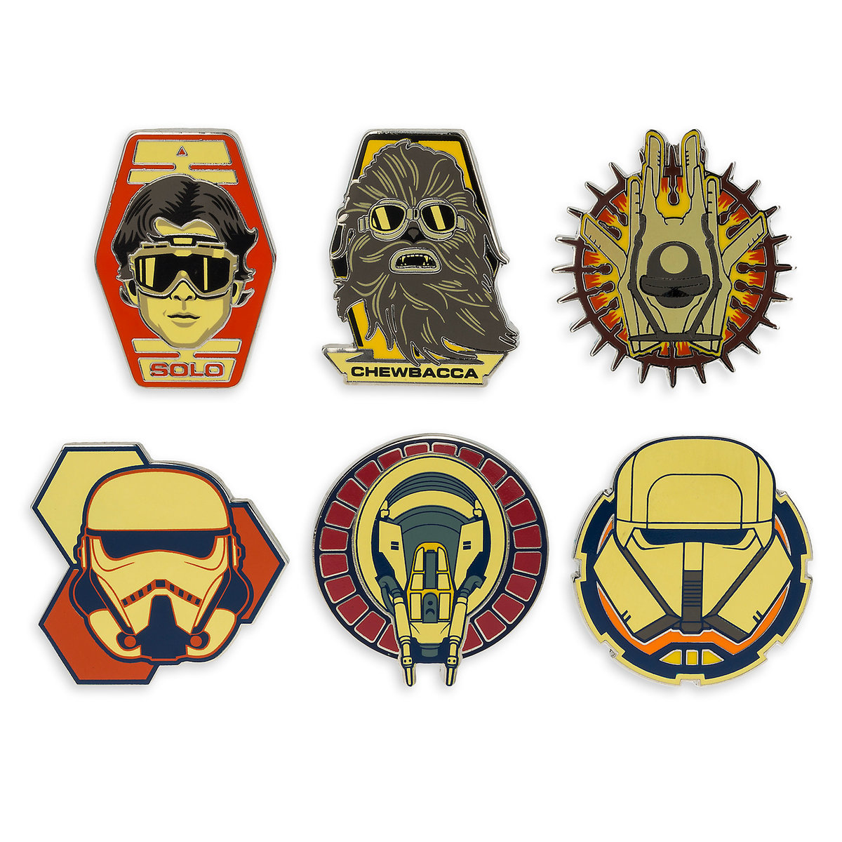 Solo: ASWS Character Trading Booster Pin Set 3