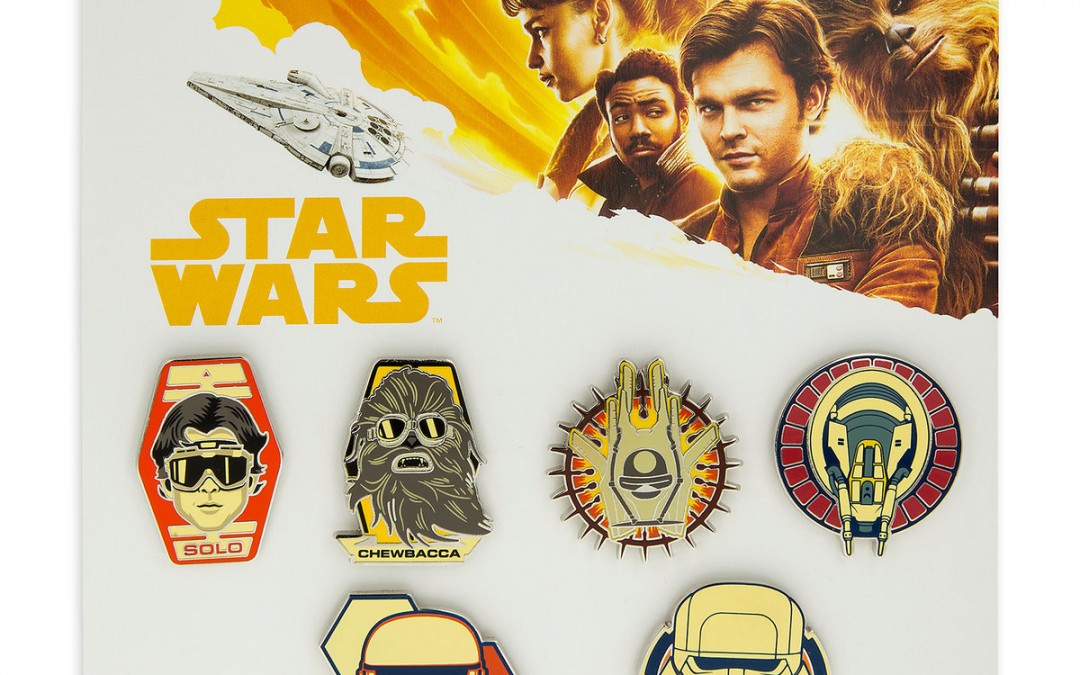 New Solo Movie Character Trading Booster Pin Set available on Amazon.com