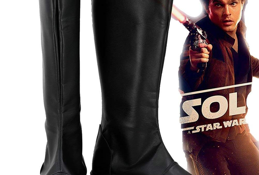 New Solo Movie Han Solo Cosplay Custom Made Boots available on Amazon.com