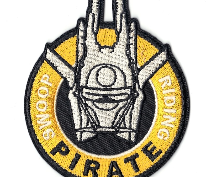 New Solo Movie Swoop Riding Pirate Logo Embroidered Iron-On Patch available on Walmart.com