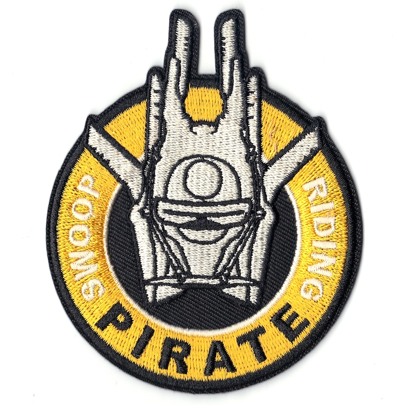 Solo: ASWS Swoop Riding Pirate Logo Embroidered Iron-On Patch
