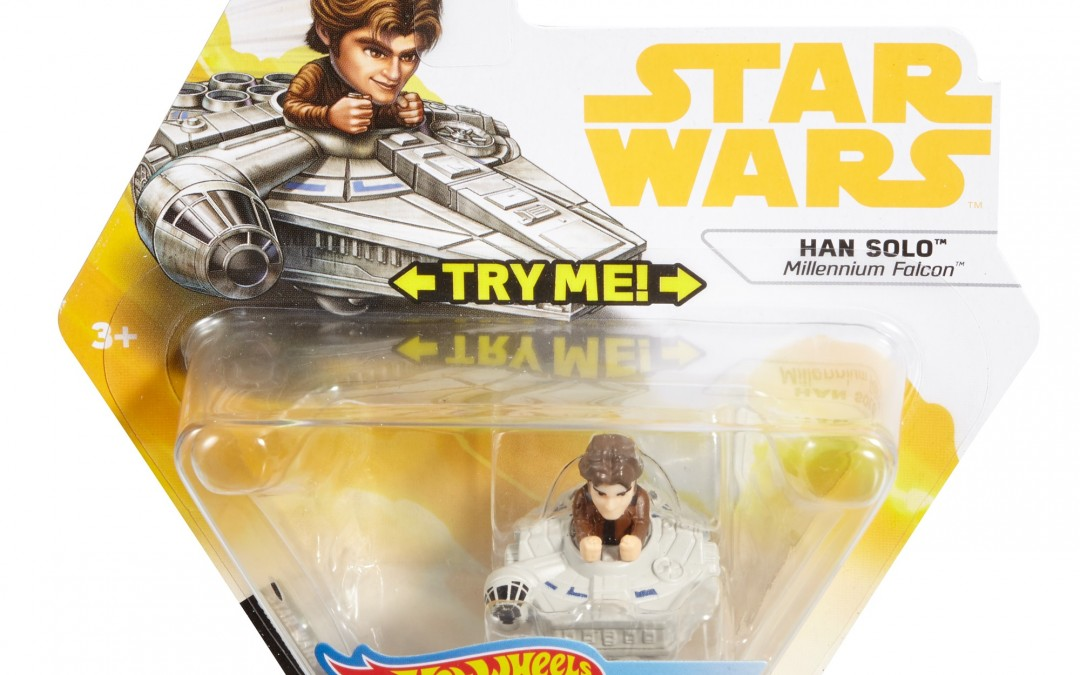 New Solo Movie Hot Wheels Han Solo Millennium Falcon Battle Roller Toy available on Walmart.com