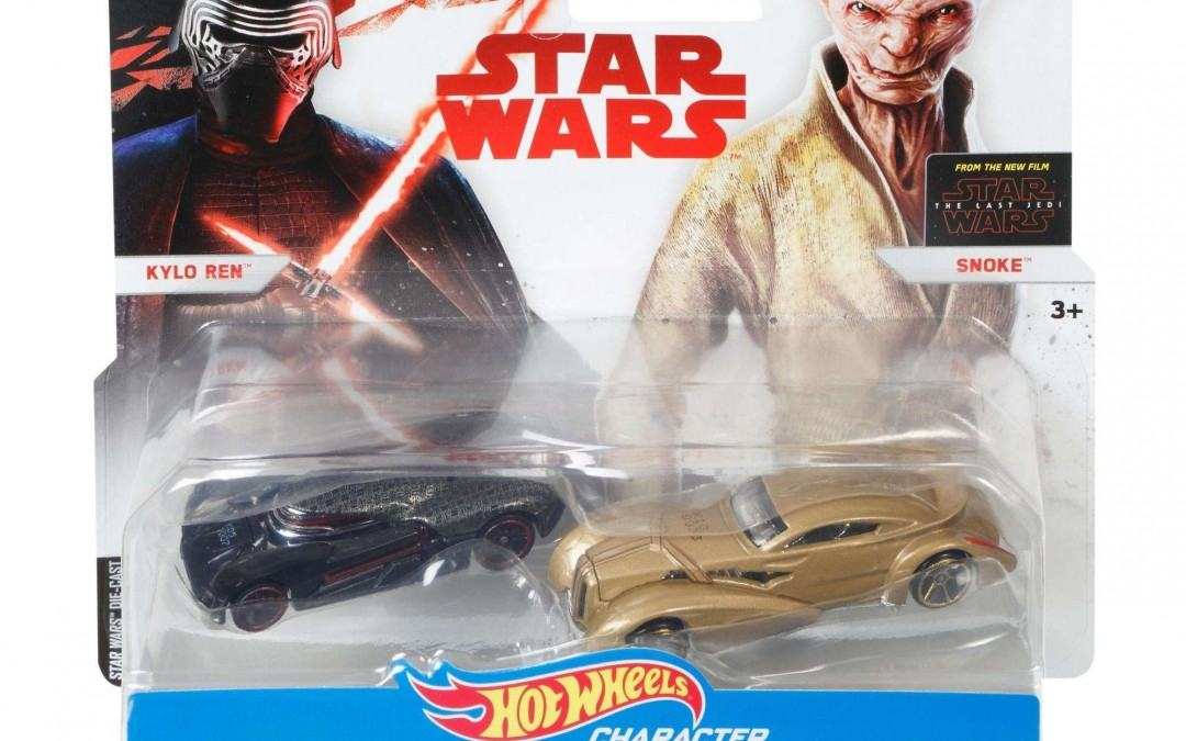New Last Jedi Snoke & Kylo Ren Character Car 2-pack available on Walmart.com