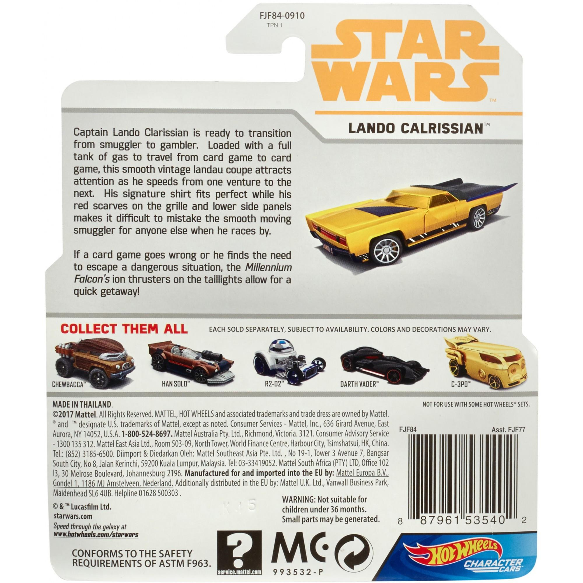 Solo: ASWS HW Lando Calrissian Character Car 2