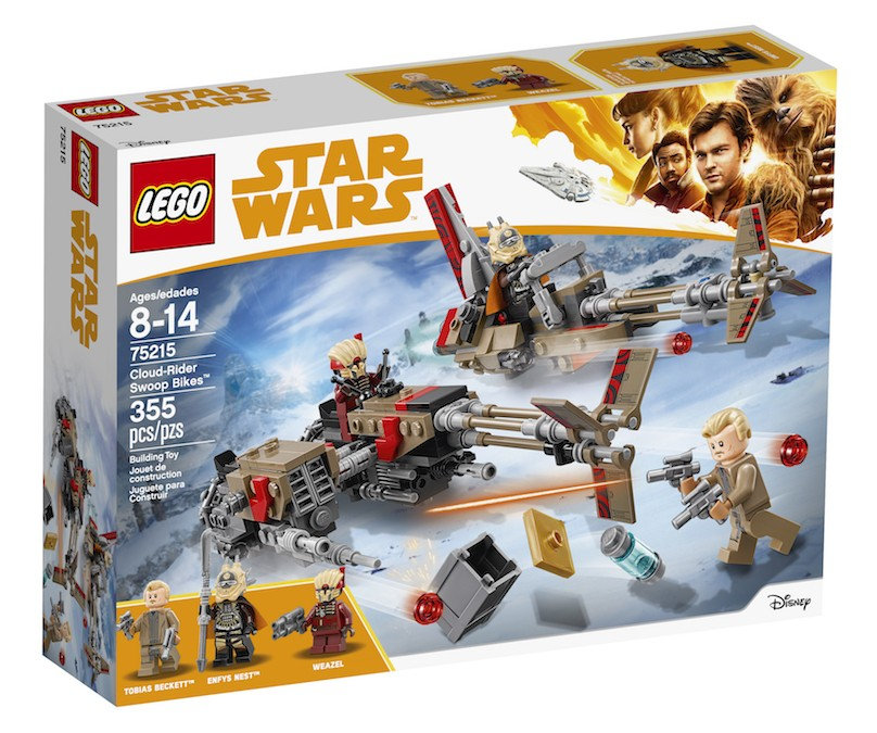 New Solo Movie Cloud-Rider Swoop Bikes Lego Set available on Walmart.com